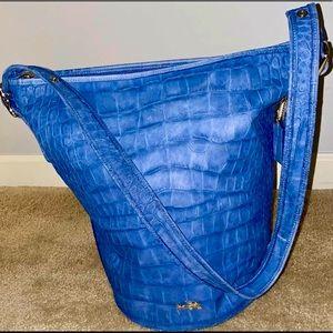 Authentic Coach Large Leather Blue Purse